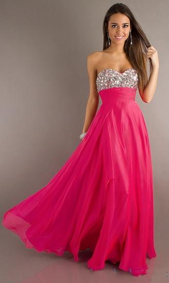 dress prom dress pink dress sparkle dress