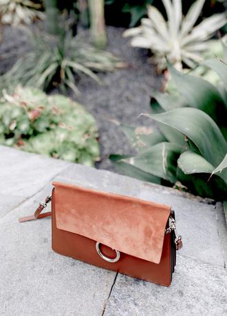 krystal schlegel blogger chloe bag designer bag brown leather bag shoulder bag