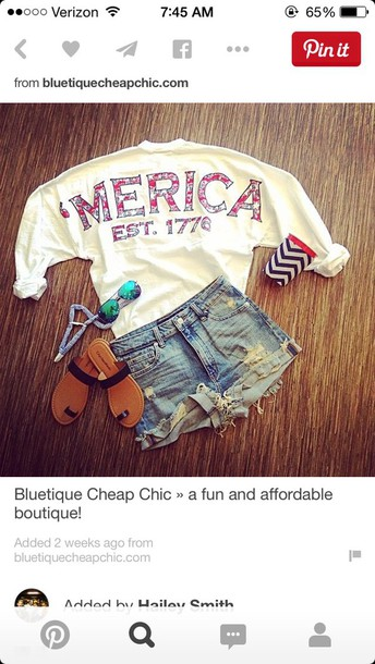 shirt shorts sweater spirit jersey america summer red white blue sweatshirt top 'merica usa patriotic shoes