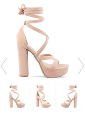 shoes,strappy sandals,suede sandals heels,high heel sandals,heels,nude,strappy,light pink,pink heels,nude heels,pink high heels,strappy heels,platform heels,lace up,pink,high heels,blush pink,suede heels,blush,platform shoes,dress,lace dress,wedding dress,sleeveless