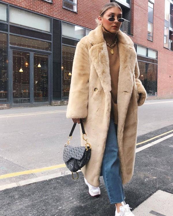 9c548cb7ac Annie Faux Shearling Coat