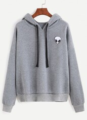 sweater,alien,grey,fashion,style,long sleeves,trendy,fall outfits,winter outfits,hoodie,trendsgal.com,t-shirt