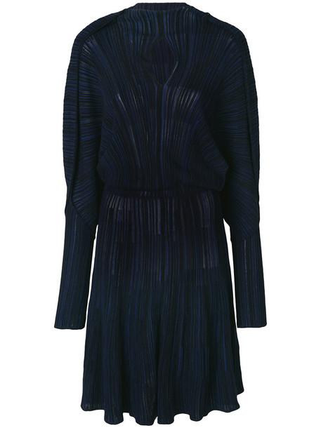 Sonia Rykiel dress pleated dress pleated women cotton blue
