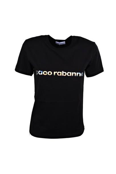 Paco Rabanne t-shirt shirt t-shirt silver black top