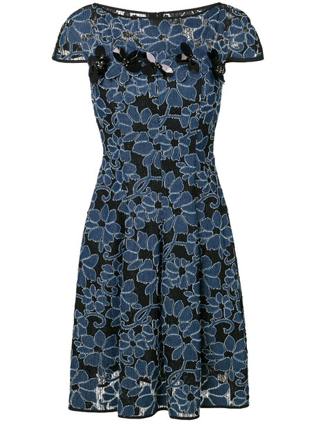 Talbot Runhof dress women floral cotton black