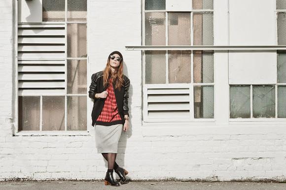 baseball jacket skirt sunglasses jacket blogger to bruck ave
