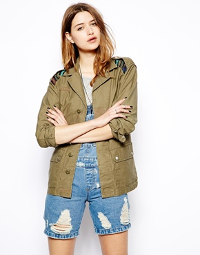 Glamorous | Glamorous Utility Jacket with Aztec Patches at ASOS