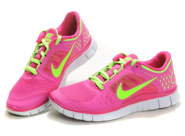buy online b84ca f4191 shoes nike free run 3 neon pink and green nike roshe run running free run 3