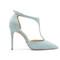 Beautiful heels - sky blue suede stiletto heels