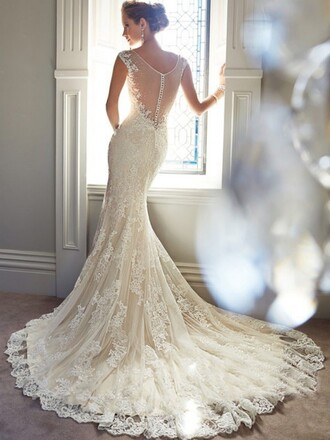 dress wedding dress long gown beautiful dresss