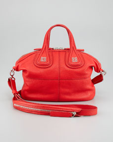 Givenchy Nightingale Micro Satchel Bag, Red - Bergdorf Goodman