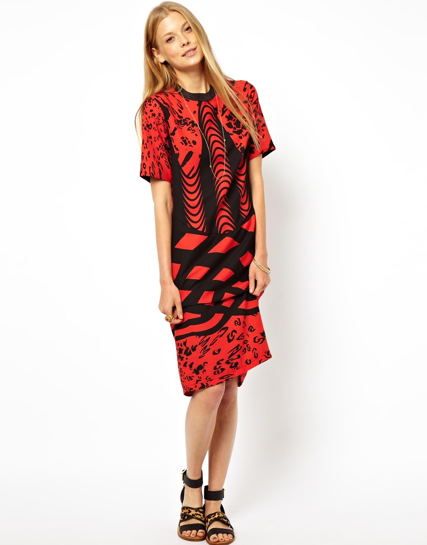 ASOS Monoclash Print Tee Dress at asos.com
