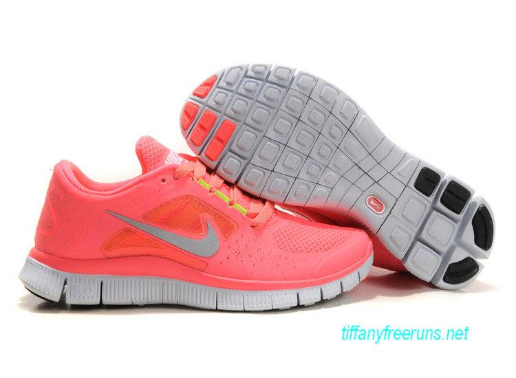 Womens Nike Free Runs 3 Hot Punch Reflective Silver Sol Volt Shoes [Tiffany Free Runs 562]-$51.84|Tiffanyfreeruns.net