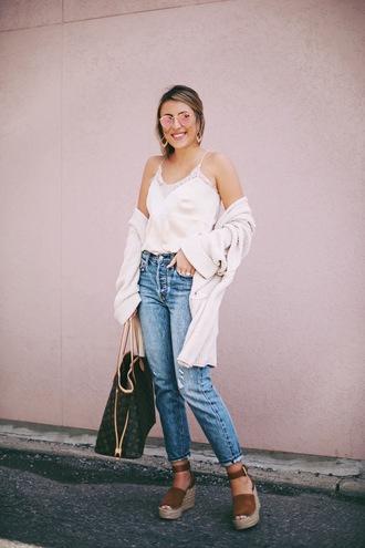 stephanie sterjovski - life + style blogger cardigan tank top shoes bag sunglasses jewels