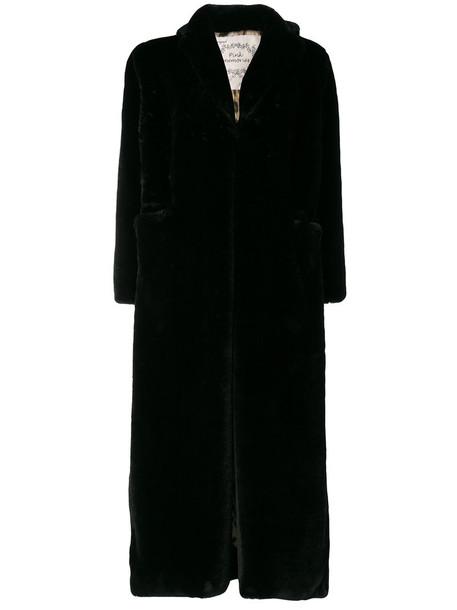 PINK MEMORIES coat long coat oversized long women black