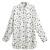 ROMWE | ROMWE Asymmetric Star & Moon Print White Shirt, The Latest Street Fashion