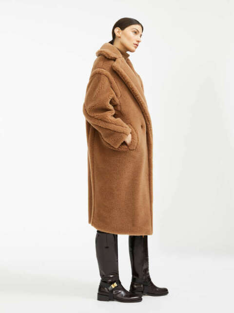 AA CHICAGO Max Mara Women Teddy Bear Icon Long Coat Camel USED   eBay