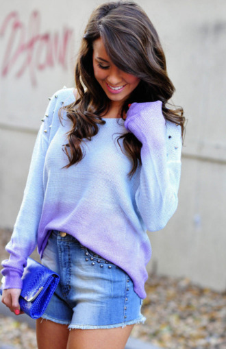 sweater studded periwinkle