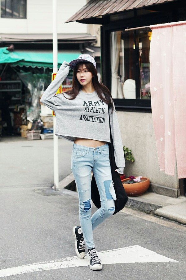 cropped cropped sweater grey hipster