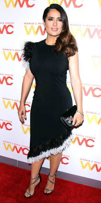 dress asymmetrical asymmetrical dress sandals salma hayek