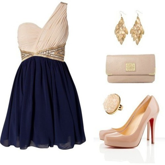 dress little dress clothes blue dress prom dress gold dress party dress