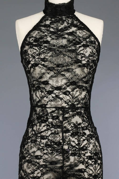 Sleeveless High Neck Lace Jumpsuit/Black Lace Catsuit/Turtleneck Sleeveless Black Jumpsuit/   Colors )