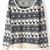 Navy Long Sleeve Deer Pattern Knit Sweater - Sheinside.com