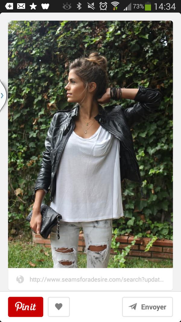 jeans fashion t-shirt jacket