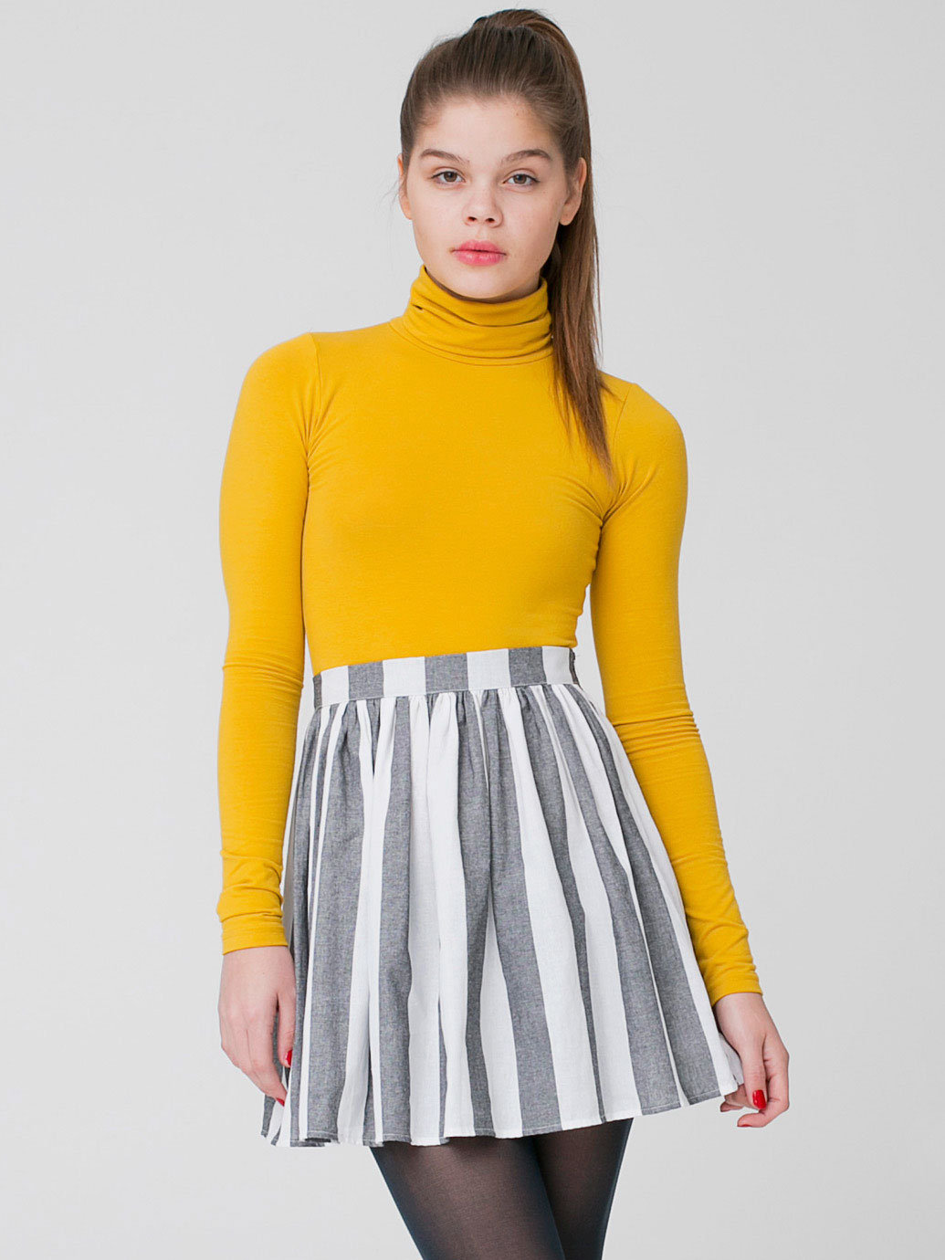 Stripe Full Woven Skirt | American Apparel