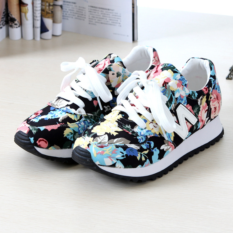 adc9bf7a5ec4c6 shoes, sneakers, new balance, floral sneakers, floral, flowers ...