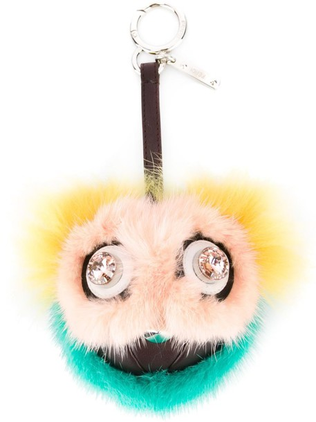 bag charm fur fox women bag