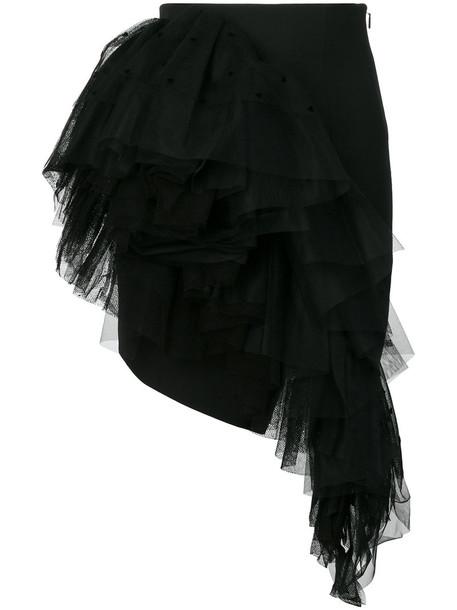 Saint Laurent skirt mini skirt mini women black silk wool