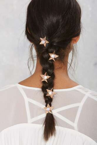 hair accessory stars hair clip braid