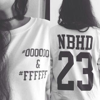 the neighbourhood nbhd jersey 23 jesse rutherford t-shirt white t-shirt