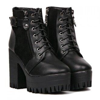 shoes boots blackboots platformboots blackshoes platform shoes
