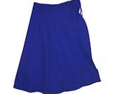 Royal blue satin retro mini skirts // pleated mini by enfields