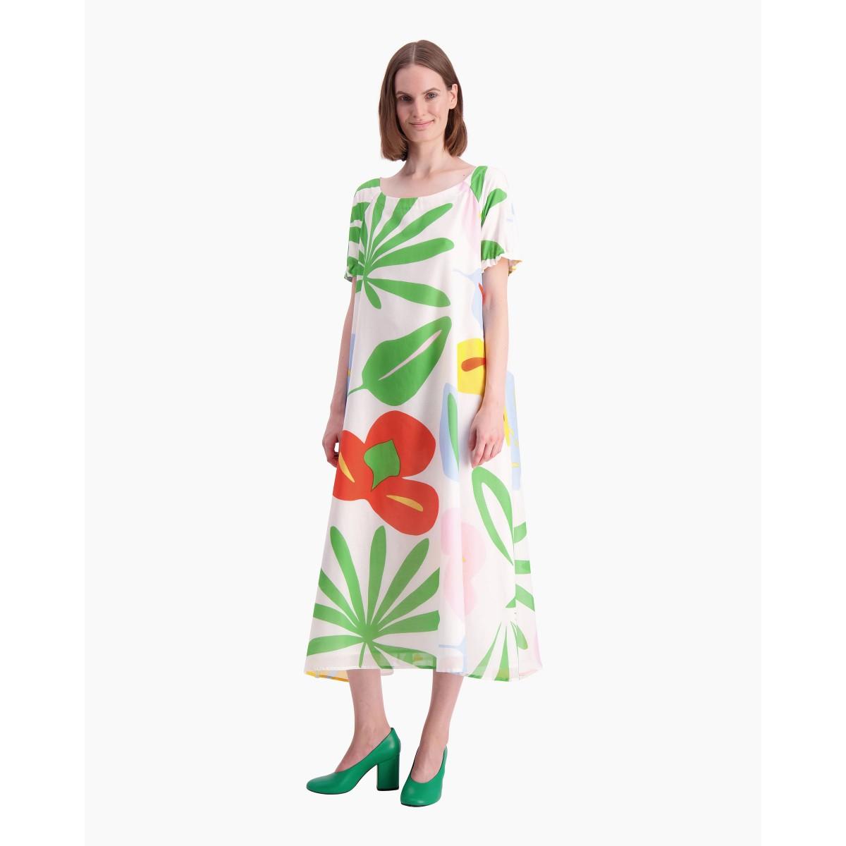 Uutuudet koko 40 ostaa Väkevä Viidakko -mekko - l.valkoinen, punainen, vihreä ...
