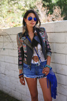 Aztec leather jacket on the hunt