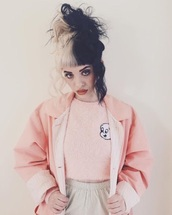 jacket,melanie martinez,top,pink jacket,shirt,pastel