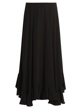 skirt midi skirt back midi satin black