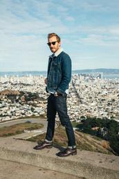 stay classic,blogger,sunglasses,menswear,mens jacket,denim,mens denim jacket