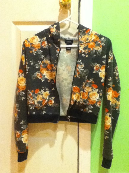 floral pink salmon jacket forever 21 spring short jacket grey flowery black hooded jacket