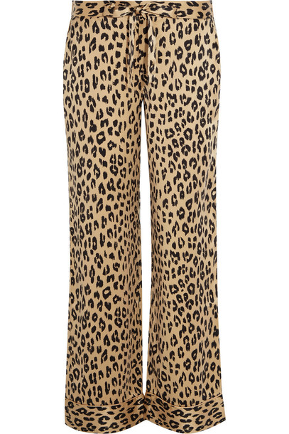 e6b0af554641 Kate Moss for Equipment Avery Leopard-Print Washed-Silk Pajama Pants ...