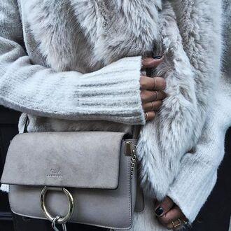 bag clutch classy hermes handbag grey beautiful accessories