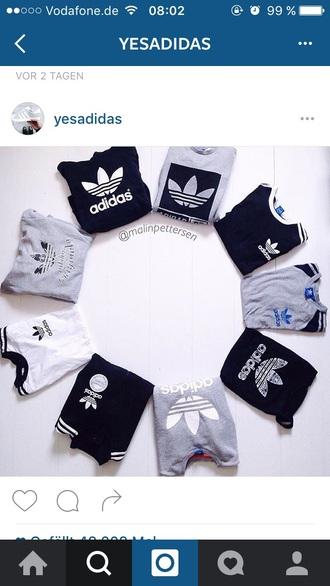 t-shirt adidas adidas shirt grey white black sweatshirt