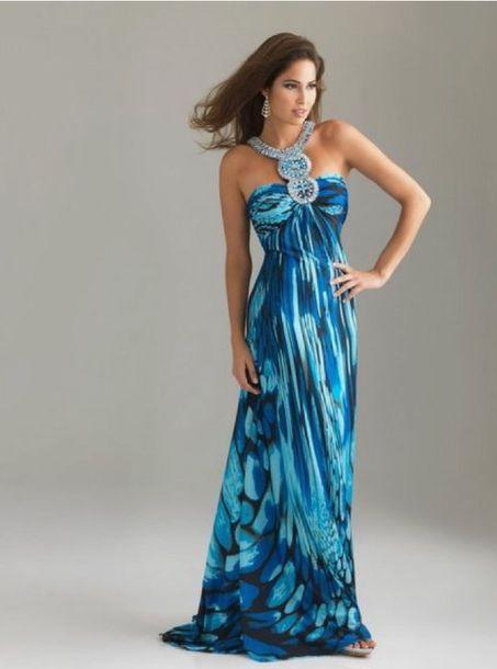 Dress Maxi Dress Beach Wedding Blue Dress Wedding Guest Clothes Dresss Mother Of The