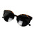 Leopard Print Retro Cat-Eyed Sunglasses