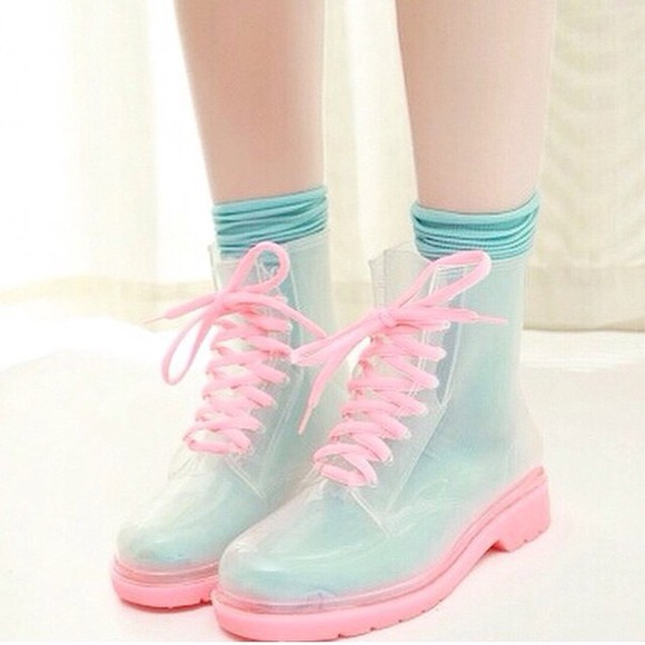 pastel shoes DrMartens wellies