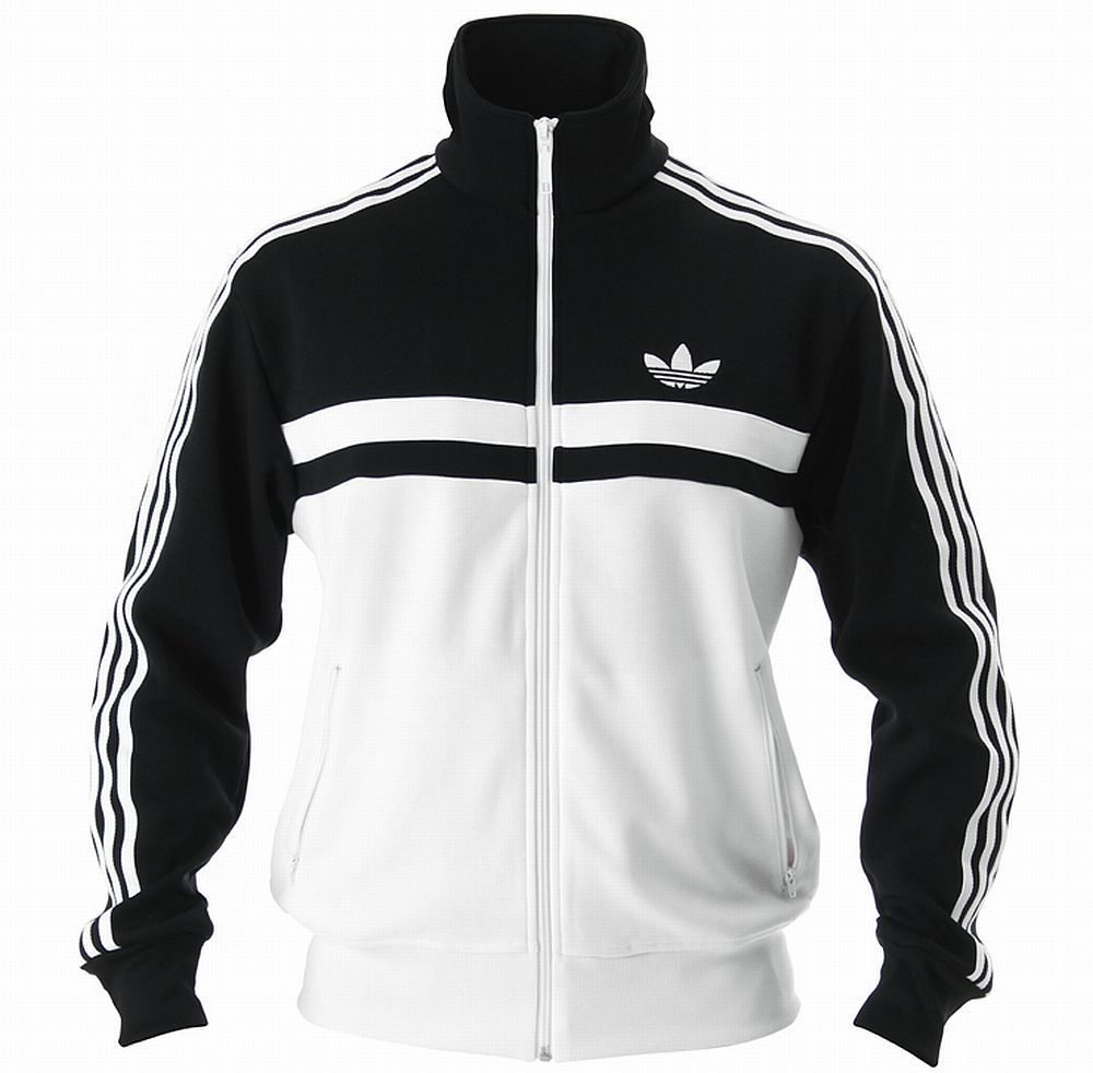 ADIDAS ADICOLOR ICON TRACK TOP JACKET Black-White firebird ... 0391efabfc7a