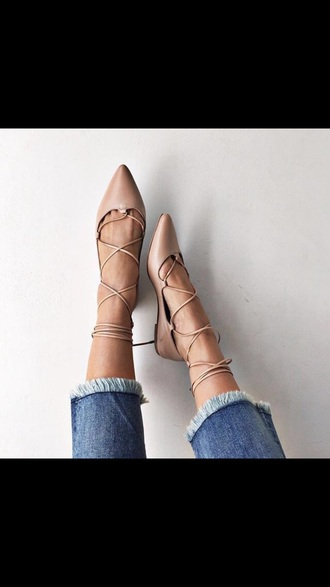 shoes flats strappy sandals flat sandals nude point